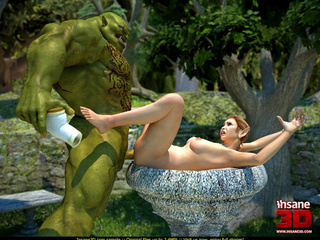 Muscled green monster fucking a wonderful - Cartoon Sex - Picture 2