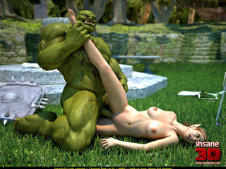 Muscled green monster fucking a wonderful - Cartoon Sex - Picture 3