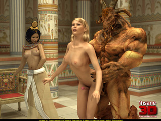 Super hot Egyptian threesome with a well hung - Cartoon Sex - Picture 1