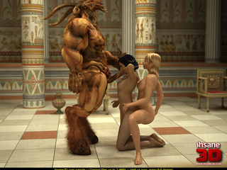 Super hot Egyptian threesome with a well hung - Cartoon Sex - Picture 4