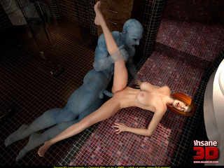 Ginger slut rides a blue dong with so much - Cartoon Sex - Picture 2