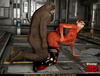 Foxy bitch enjoys in enormous bear's meat pole