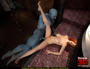 ginger slut rides blue