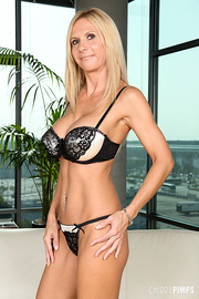hot blonde milf displays