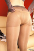 Young gal in heels does slow teasing with sheer…