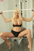 Busty blonde loves to work out and to get rammed hard