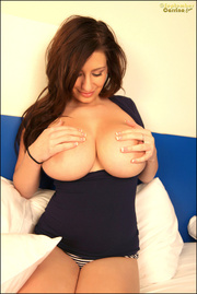brunette shows off humongous