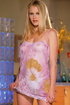 Gorgeous big-boobed blond doll strips off see-through dress and takes