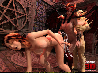 Mistress and her slave fucked by a crazy monster - Picture 3