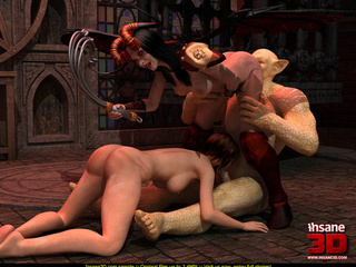 Mistress and her slave fucked by a crazy monster - Picture 4