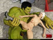 incredible hulk fucks busty