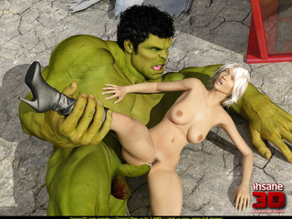 Incredible hulk fucks this busty blonde darling so - Picture 4