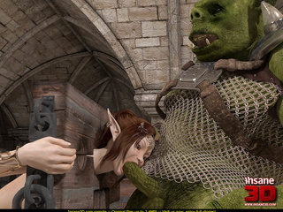 Elf girl gets rammed and facialzied by a horny troll - Picture 1