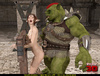 Elf girl gets rammed and facialzied by a horny troll