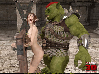 Elf girl gets rammed and facialzied by a horny troll - Picture 2