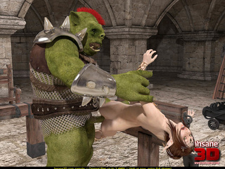 Elf girl gets rammed and facialzied by a horny troll - Picture 3