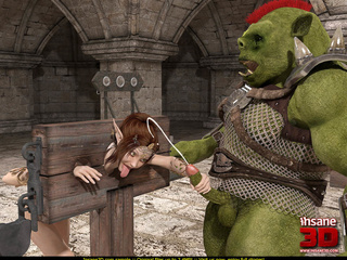 Elf girl gets rammed and facialzied by a horny troll - Picture 4