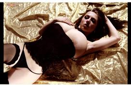 big tits, black, corset, stockings