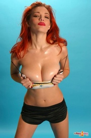 red haired babe with