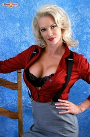 naughty blonde seductress with
