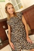 Sophisticated mature housewife in leopard print…