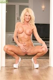 mature blonde milf white