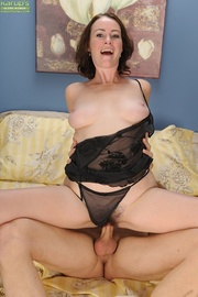 naughty older cougar enjoys