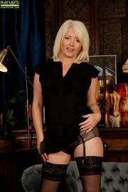 blonde cougar sexy balck