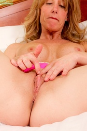 playful blonde milf with