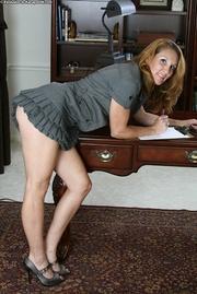 innocent blonde cougar secretary