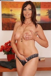 very horny brunette housewife