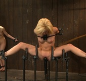 Pretty blondes submit to slave training and find themselves crying out
