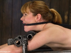 Red-lipped Mistress shoves fingers and an ass plug - XXXonXXX - Pic 9