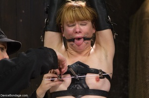 Red-lipped Mistress shoves fingers and an ass plug into a sub's mouth, then carelessly sets her on a Sybian. - XXXonXXX - Pic 10