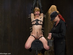 Red-lipped Mistress shoves fingers and an ass plug - XXXonXXX - Pic 12