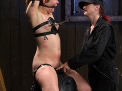 Red-lipped Mistress shoves fingers and an ass plug - XXXonXXX - Pic 13