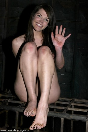 Things are definitely worse for a dark-haired slave once she is let out of her small cage. - XXXonXXX - Pic 18