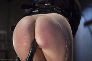 Filly's face is twisted as she endures an unharmonious slave training session. - XXXonXXX - Pic 3