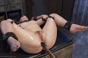 Filly's face is twisted as she endures an unharmonious slave training session. - XXXonXXX - Pic 18