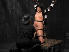 All-natural woman is bound in the most - XXXonXXX - Pic 6
