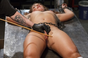 Foxy girl in heels does not stop her BDSM session, even though her face expresses how painful it is. - XXXonXXX - Pic 8