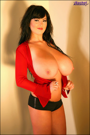 seductive lady red showing