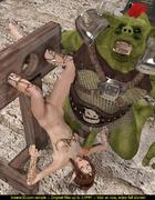Green troll fucks a brunette elf chick