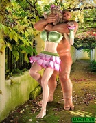 Naughty bitches having sex with horny monters