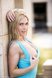 petite blonde gal blue