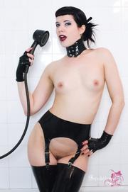goth girl latex leggings