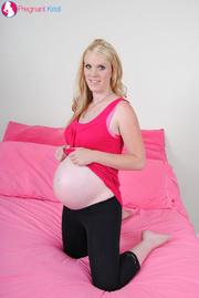 sweet pregnant blonde pink
