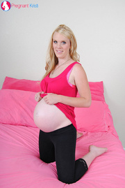 pregnant blonde pink and