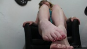 horny big-boobed blond flashes