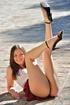 playful brunette cute skirt
